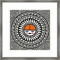 Shining Sun Framed Print
