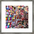 Shoe Souk Framed Print
