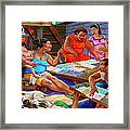 Si Muning Si Bantay At Si Inay Framed Print