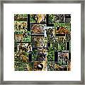 Siberian Tiger Collage Framed Print