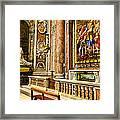 Side Altar In St Peters Basicilca Framed Print