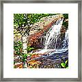 Side View Of Southeast Brook Falls In Gros Morne Np-nl Framed Print