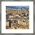 Siena Rooftops Framed Print