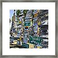 Sign Forest Watson Lake Framed Print