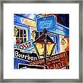 Signs Of Bourbon Street Framed Print