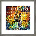 Silhouettes - Palette Knife Oil Painting On Canvas By Leonid Afremov Framed Print