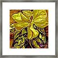 Silky Magnolia Framed Print