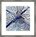 Silver And Blue Wrapped Gift Art Prints Framed Print