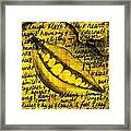 Simply Smile and your golden virtues will be written all over you Framed Print
