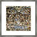 Sistine Chapel The Last Judgement, 1538-41 Fresco Pre-restoration Framed Print
