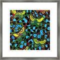 Six Butterflys Framed Print