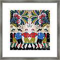 Six Men Dancing Framed Print