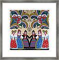 Six Women Dancing Framed Print