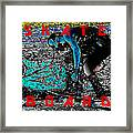 Skate Board Hi Low Red Letters Framed Print