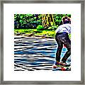 Skateboarder In Central Park Framed Print