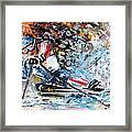 Skiing 04 Framed Print