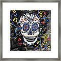 Skull Flowers Framed Print