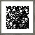 Skulls And Bones In The Catacombs Of Paris France Framed Print