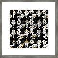 Skulls Of Various Dog Breeds Framed Print