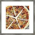 Sliced Tortilla Pizza Framed Print