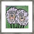 Ewe And Me Smiling  Framed Print