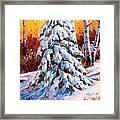 Snow Blanket Framed Print
