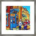 Snow Falling On The Game Framed Print