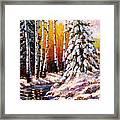 Snowy Banks Framed Print