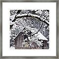 Snowy Barn 2 Framed Print