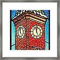Snowy Clock Tower Framed Print