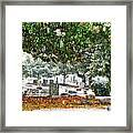 Snowy Day At The Cemetery - Greensboro North Carolina Framed Print