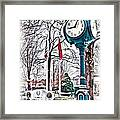 Snowy Morning - Oil Framed Print