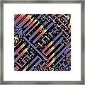 Solar Sagittarius Maze Framed Print