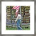 Soldier At Bedford Village Pa Framed Print