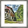 Somerset Glessner Bridge Framed Print