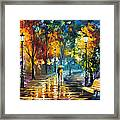 Soul Of The Rain - Palette Knife Oil Painting On Canvas By Leonid Afremov Framed Print