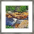 Southeast Brook Above Falls In Gros Morne Np-nl Framed Print