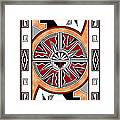 Southwest Collection - Design Six In Red Framed Print