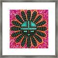 Southwest Sunburst Sunface Framed Print