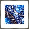 Space-time Mesh Framed Print