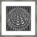 Sparkle Bnw White Pyramid Dome Ancient Arch Architecture Formation Obtained During Deep Meditation W Framed Print
