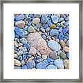 Speckled Stones Framed Print