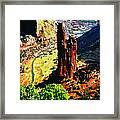 Spider Rock Canyon Dechelly  Framed Print