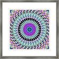 Spinning Colors Mandala Framed Print