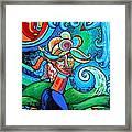 Spiral Bird Lady Framed Print