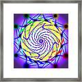 Spiral Light Hexagon Framed Print