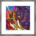 Splash Of Hendrix Framed Print