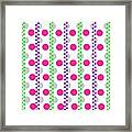 Spotty Stripe Framed Print