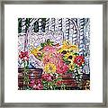 Spring Basket Framed Print by Linda Vaughon