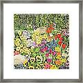 Spring Cats Framed Print by Hilary Jones